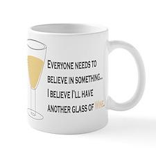 Believe White Wine Mug
