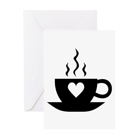 Love Coffee Greeting Card