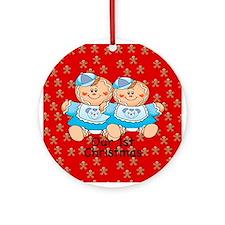 Twin Gingerbread Boys 1st Christmas Ornament