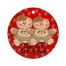 Twin Gingerbread Boys 1st Chirstmas Ornament