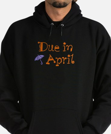 """Due in April (umbrella)"" Hoodie (dark)"