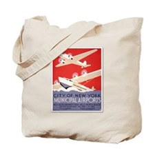 """New York Municipal Airports"" Tote Bag"