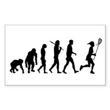 Lacrosse Player Decal