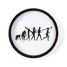 Lacrosse Player Wall Clock
