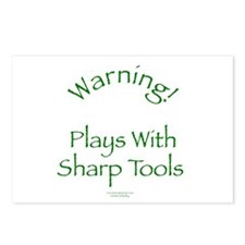 Warning - Sharp Tools Postcards (Package of 8)