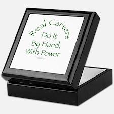 Real Carvers Do It By Hand, w/ Power Keepsake Box