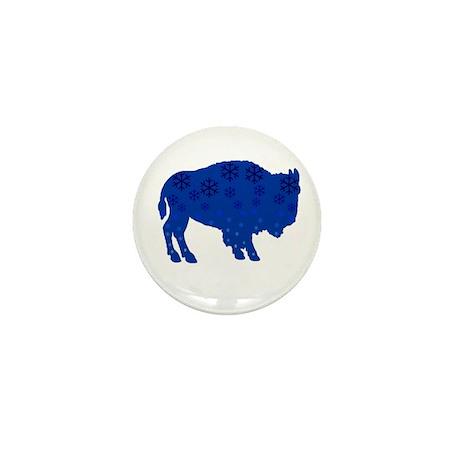 Buffalo Snow Mini Button