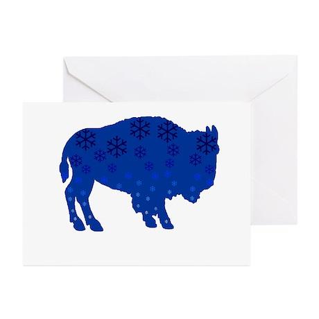 Buffalo Snow Greeting Cards (Pk of 20)