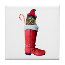 Cat in Boot Tile Coaster