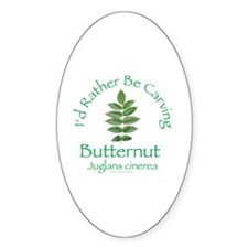 Rather Be Carving Butternut Oval Decal