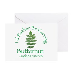 Rather Be Carving Butternut Greeting Cards (Pk of