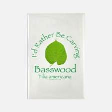 Rather Be Carving Basswood 1 Rectangle Magnet