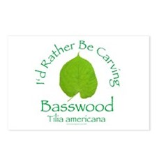 Rather Be Carving Basswood 1 Postcards (Package of