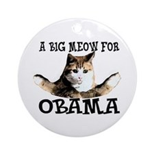 Meow for Obama Ornament (Round)