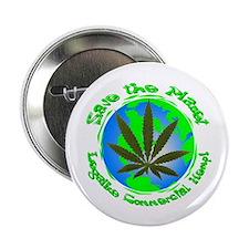 """Legalize commercial hemp/ gre 2.25"""" Button"""