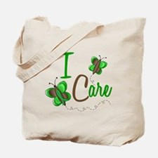 I Care 1 Butterfly GREEN Tote Bag