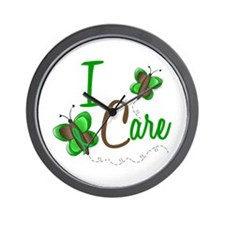 I Care 1 Butterfly GREEN Wall Clock