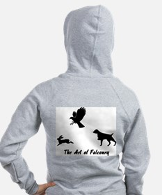 Brittany and Falconry Back Zip Hoodie