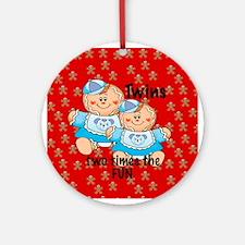Twins Girls & Boys Two Times the Fun Ornament