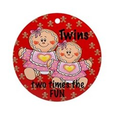 Twins Girls & Boys Two Times the Fun Ornament