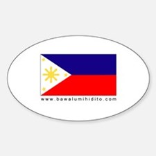 Philippine Flag Oval Decal