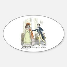 Pride and Prejudice Chapter 5 Oval Decal
