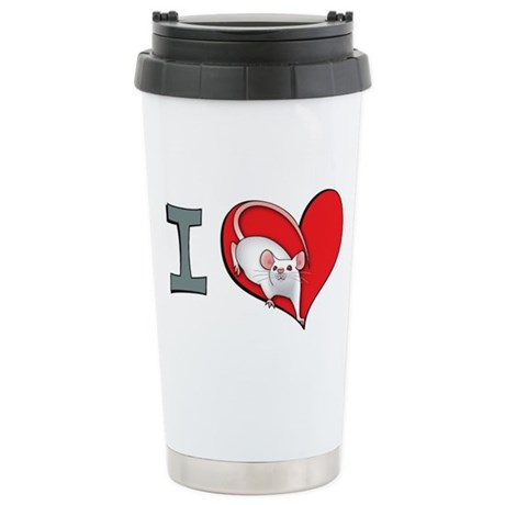 I heart mice Stainless Steel Travel Mug