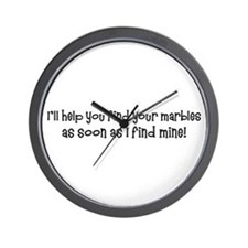 Psych-Finding Marbles Wall Clock