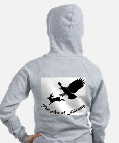 Art of Falconry - Red Tail Back Zip Hoodie