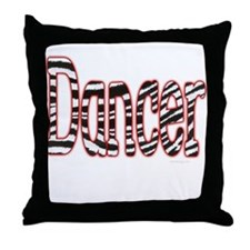 Zebra Print Dancer Throw Pillow