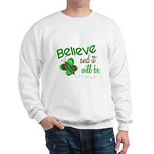 Believe 1 Butterfly 2 GREEN Sweatshirt