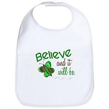 Believe 1 Butterfly 2 GREEN Bib