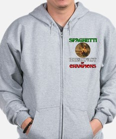 Spaghetti Breakfast of Champi Zip Hoodie