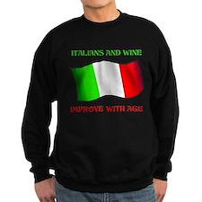 Italians And Wine Improve Wi Sweatshirt