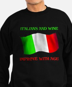 Italians And Wine Improve Wi Sweatshirt (dark)