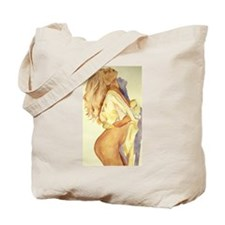 Sexy Blonde Woman - done in Watercolor Tote Bag