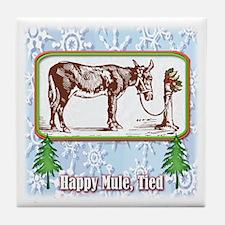 Happy Mule, Tied... Tile Coaster