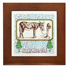 Happy Mule, Tied... Framed Tile