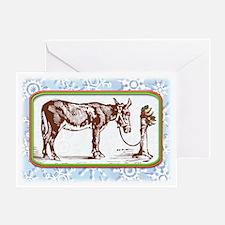 Happy Mule, Tied... Greeting Card