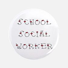 "School SW Hearts 3.5"" Button"