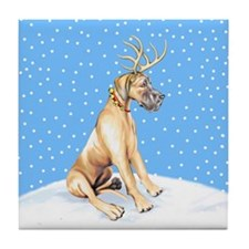 Great Dane Deer Fawn UC Tile Coaster