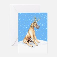 Great Dane Deer Fawn UC Greeting Card