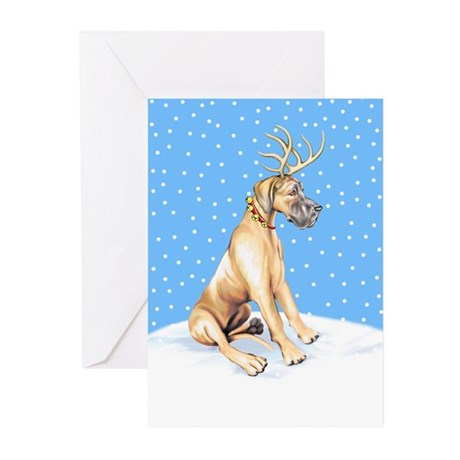 Great Dane Deer Fawn UC Greeting Cards (Pk of 10)
