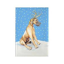 Great Dane Deer Fawn UC Rectangle Magnet