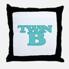 TWIN B Throw Pillow