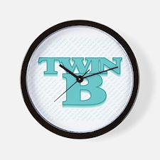 TWIN B Wall Clock