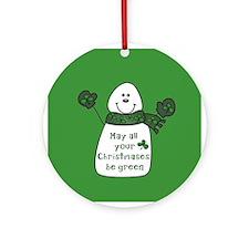 Irish GREEN Christmas Ornament