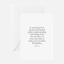 LUKE  1:3 Greeting Cards (Pk of 10)