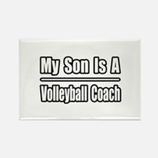 """My Son..Volleyball Coach"" Rectangle Magnet"