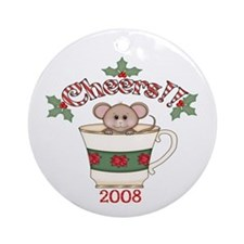 Cheers Christmas Mouse Ornament